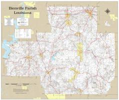 Bienville Parish Louisiana 2019 Wall Map