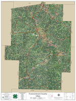 Tuscarawas County Ohio 2020 Aerial Wall Map