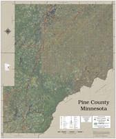 Pine County Minnesota 2020 Aerial Wall Map