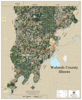 Wabash County Illinois 2020 Aerial Wall Map