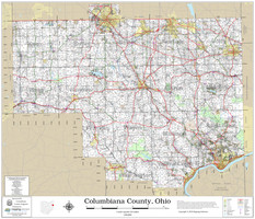 Columbiana County Ohio 2020 Wall Map