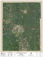 Champaign County Illinois 2020 Aerial Wall Map