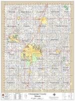Champaign County Illinois 2020 Wall Map