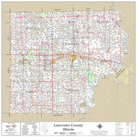 Lawrence County Illinois 2020 Wall Map