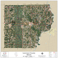 Lawrence County Illinois 2020 Aerial Wall Map