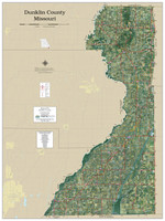 Dunklin County Missouri 2020 Aerial Wall Map