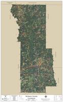 Webster Parish Louisiana 2020 Aerial Wall Map