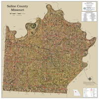 Saline County Missouri 2020 Aerial Wall Map