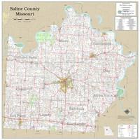 Saline County Missouri 2020 Wall Map