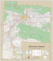 Polk County Arkansas 2020 Wall Map