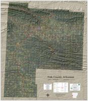 Polk County Arkansas 2020 Aerial Wall Map
