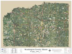 Washington County Illinois 2020 Aerial Wall Map