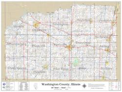 Washington County Illinois 2020 Wall Map