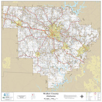 Walker County Alabama 2020 Wall Map