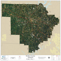 Walker County Alabama 2020 Aerial Wall Map