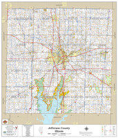Jefferson County Illinois 2020 Wall Map