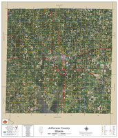 Jefferson County Illinois 2020 Aerial Wall Map