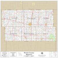 Worth County Missouri 2020 Wall Map