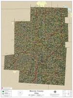 Morrow County Ohio 2020 Aerial Wall Map