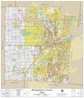 Montgomery County Ohio 2020 Wall Map