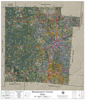 Montgomery County Ohio 2020 Aerial Wall Map