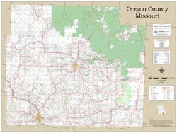 Oregon County Missouri 2020 Wall Map