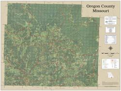 Oregon County Missouri 2020 Aerial Wall Map