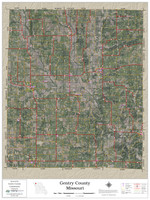 Gentry County Missouri 2020 Aerial Wall Map