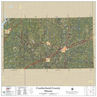 Cumberland County Illinois 2020 Aerial Wall Map