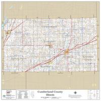 Cumberland County Illinois 2020 Wall Map