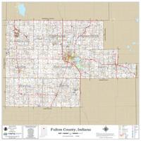 Fulton County Indiana 2020 Wall Map