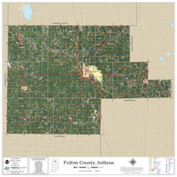 Fulton County Indiana 2020 Aerial Wall Map