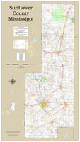Sunflower County Mississippi 2020 Wall Map