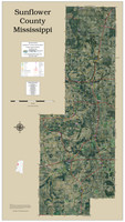 Sunflower County Mississippi 2020 Aerial Wall Map