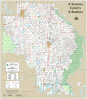 Arkansas County Arkansas 2020 Wall Map