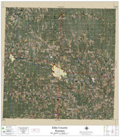 Ellis County Kansas 2020 Aerial Wall Map