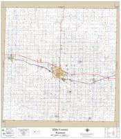 Ellis County Kansas 2020 Wall Map