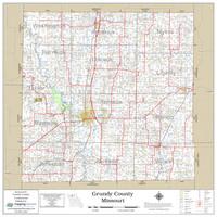 Grundy County Missouri 2020 Wall Map