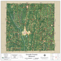 Grundy County Missouri 2020 Aerial Wall Map