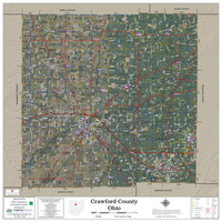 Crawford County Ohio 2020 Aerial Wall Map