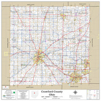Crawford County Ohio 2020 Wall Map
