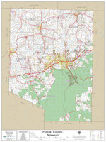 Pulaski County Missouri 2020 Wall Map