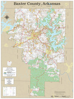 Baxter County Arkansas 2020 Wall Map