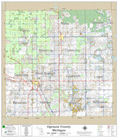 Ogemaw County Michigan 2020 Wall Map