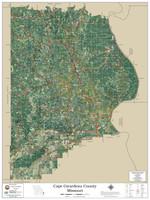 Cape Girardeau County Missouri 2020 Aerial Wall Map