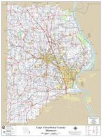 Cape Girardeau County Missouri 2020 Wall Map