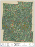 Benton County Missouri 2020 Aerial Wall Map