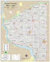 Grant County Wisconsin 2020 Wall Map