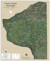 Grant County Wisconsin 2020 Aerial Wall Map