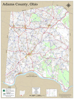 Adams County Ohio 2020 Wall Map
